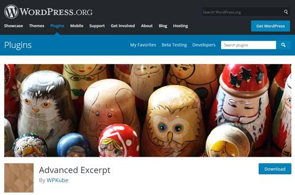 Advanced Excerpt Plugin (WordPress)