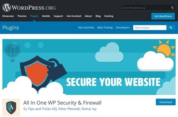 All In One WP Security & Firewall Plugin (WordPress)