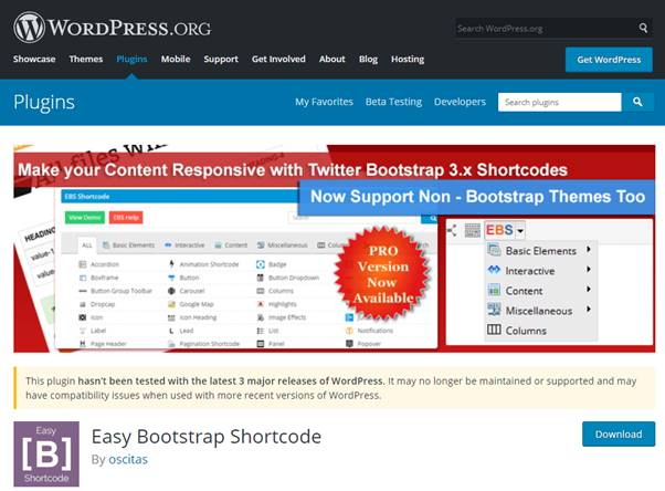 Easy Bootstrap Shortcode Plugin (WordPress)
