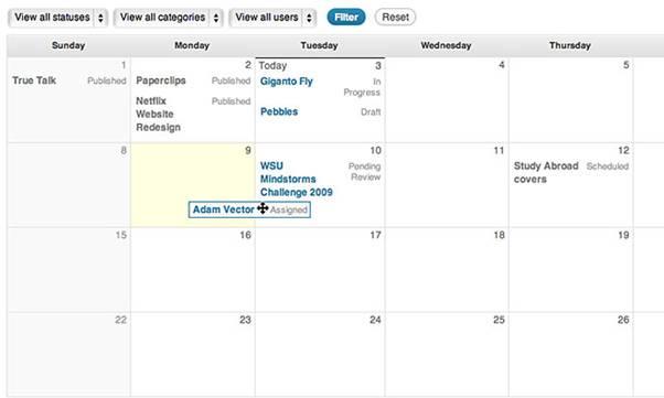 Screenshot-Edit Flow Plugin (WordPress)