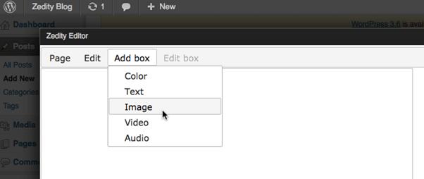 Screenshot-Zedity (The Visual Editor) Plugin (WordPress)