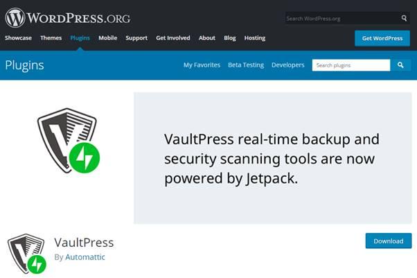 VaultPress Plugin (WordPress)