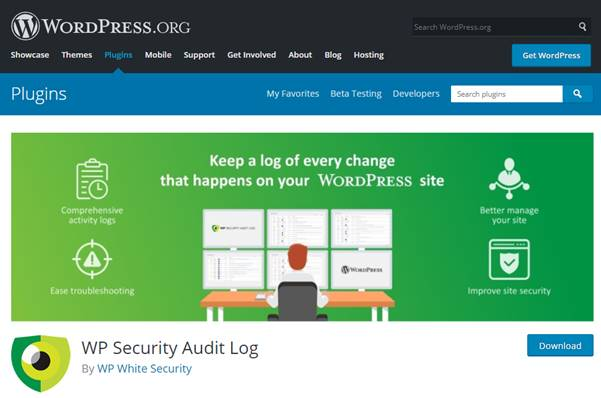 WP Security Audit Log Plugin (WordPress)