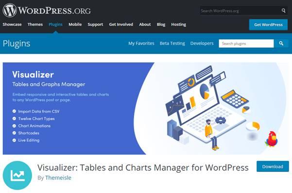 WordPress Charts and Graphs Lite Plugin