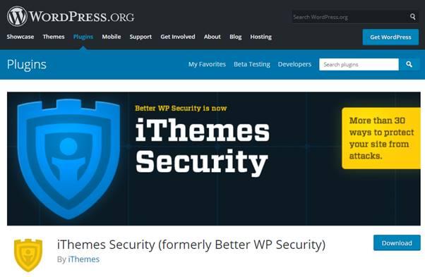 iTheme Security Plugin (WordPress)