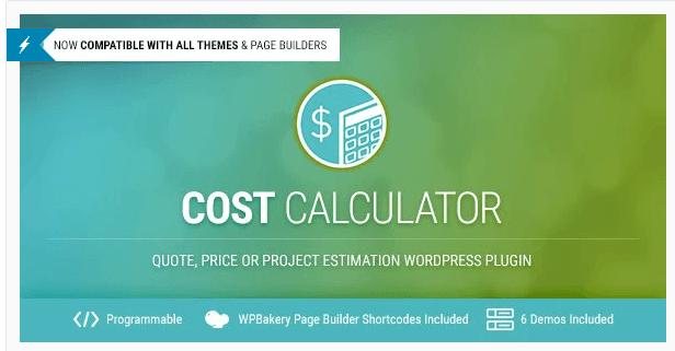 Cost Calculator – WordPress Plugin