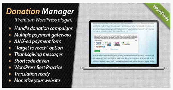 Donation Manager For WordPress WordPress Plugin