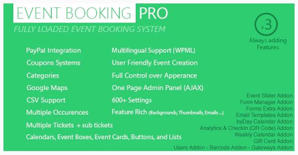 Event Booking Pro – WordPress Plugin