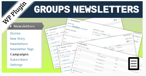 Groups Newsletters WordPress Plugin