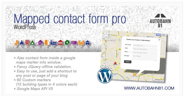 Mapped Contact Form (WordPress Plugin)