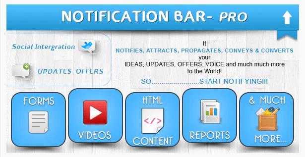 Notification Bar Plugin for WordPress