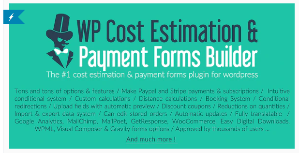 WP Cost Estimation & Payment Forms Builder for WordPress
