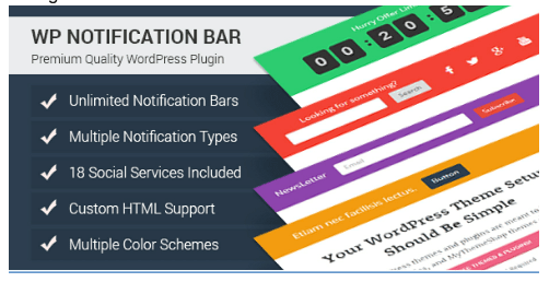 WP Notification Bar Pro WordPress Plugin