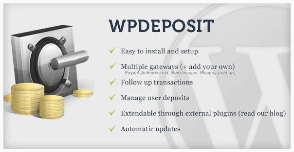 WPdeposit WordPress Plugin