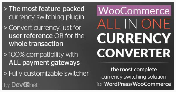 WooCommerce All in One Currency Converter WordPress Plugin