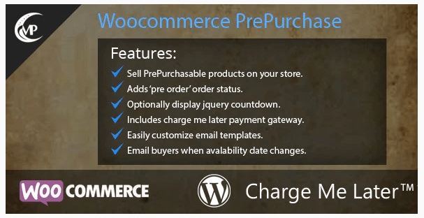 Woocommerce PrePurchase WordPress Plugin