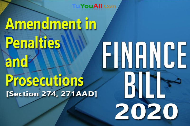 Amendment in Penalties and Prosecutions in Budget 2020