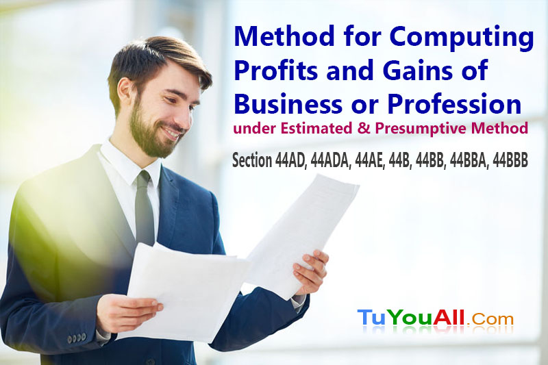 Method for Computing Profits and Gains of Business or Profession