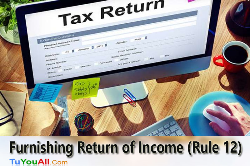 Manner of Furnishing Return of Income (Rule 12)